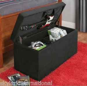 #13 Black Video Game Gaming Storage Ottoman for Wii PS XBox & More. Holds Guitar