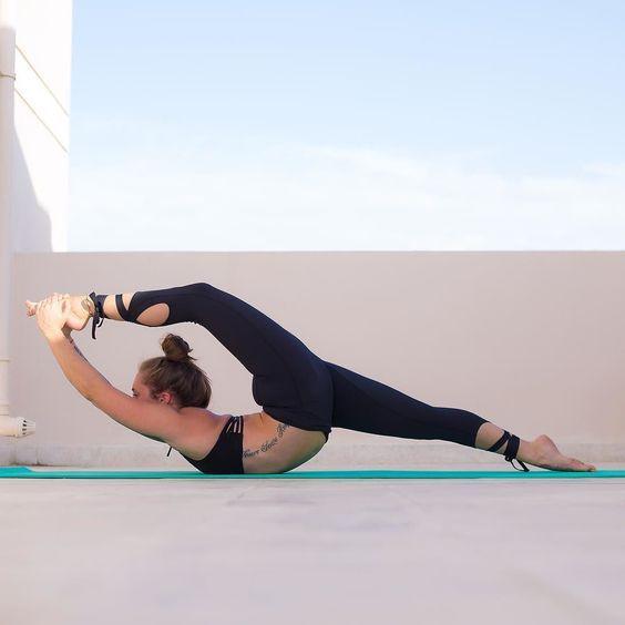 Lace up yoga pants