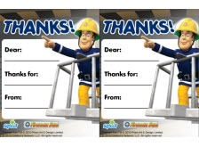 Fireman Sam thank you note.