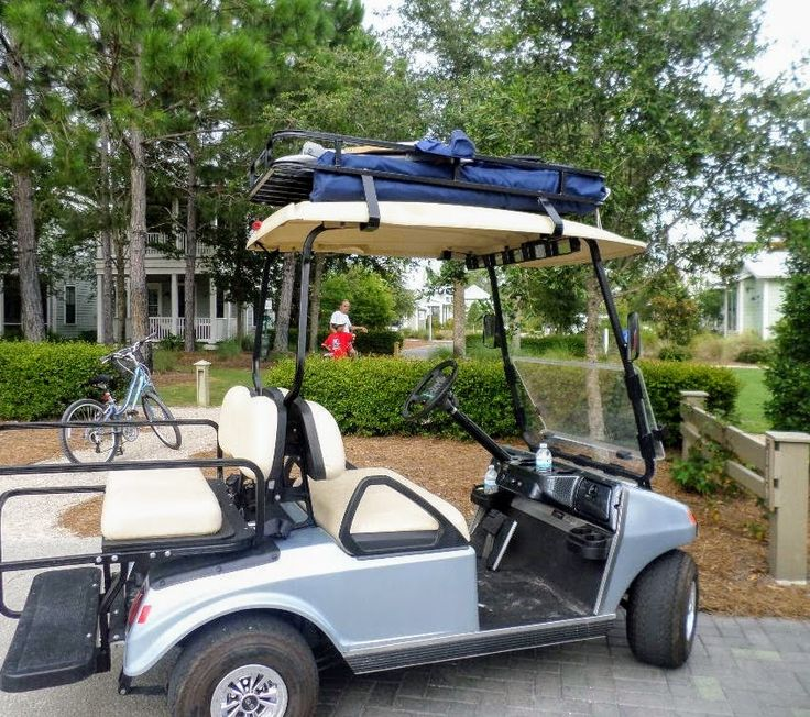 A Golf Cart Roof Rack Is A Handy Way To Haul Beach Chairs To The Beach