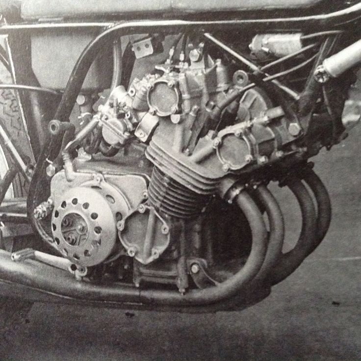 Close up of the Honda 125cc 8 speed gearbox, 4 cylinder, 1964.