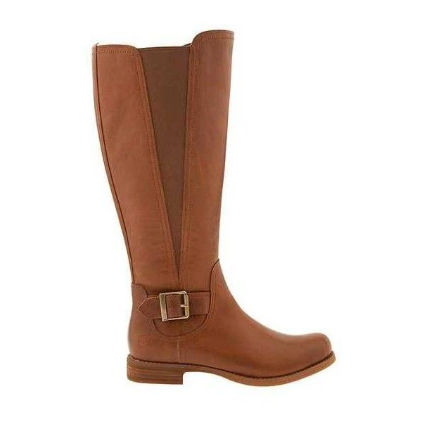 Timberland Women Savin Hill All Fit Tall Boot ($144) ❤ liked on Polyvore featuring shoes, boots, wheat forty leather, timberland boots, tall boots, knee high leather boots, timberland knee high boots and thigh-high boots