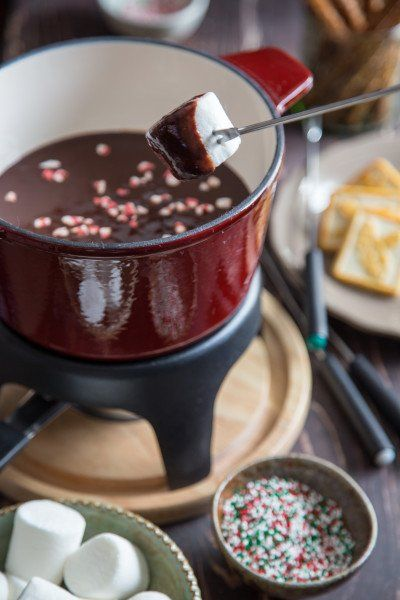 Chocolate Peppermint Fondue | Recipe | Fondue, Chocolate ...