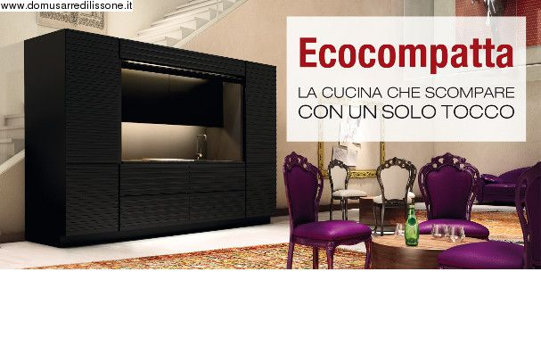 ecocompatta cucina per gli spazi ridotti Veneta Cucine finitura nero