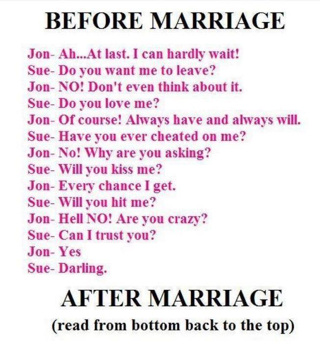 1000+ Ideas About Funny Marriage Jokes On Pinterest
