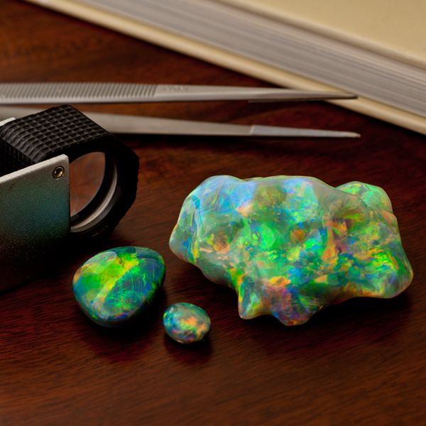 This lightning ridge opal is very rare and one of the most valuable forms of opal!