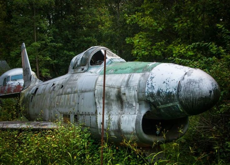 The Shell Of An F-86D Saber Plane | Pictures Of Abandoned War Airplanes