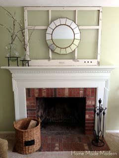 Home Made Modern: Painted Fireplace Mantel (Finally!)