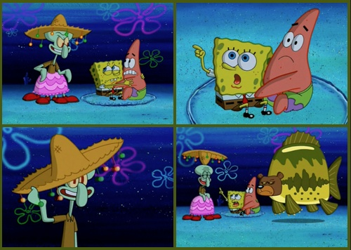 Bear + Fish= Seabear? | Spongebob | Spongebob, Spongebob ...