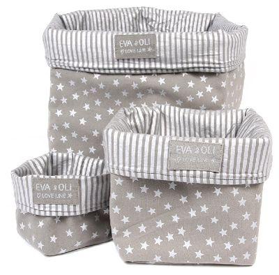 fabric storage bins - three sizes