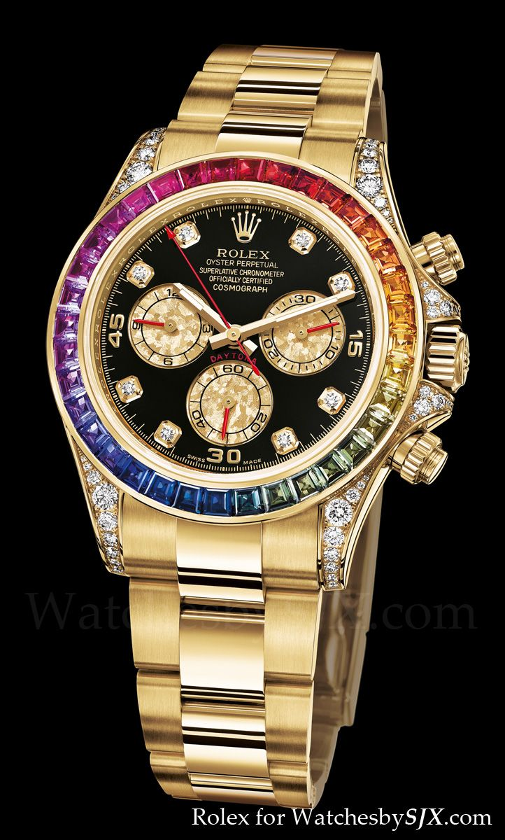 rollex   Watches by SJX: Rolex bling at Baselworld 2012 including the Rainbow ...