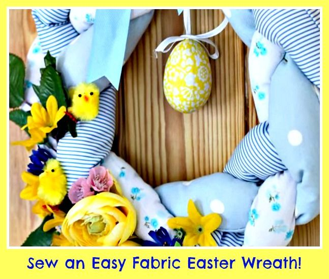44 best easter sewing projects images on pinterest easter crafts sew a pretty spring fabric wreath for easter ideal upcycle project sew whats negle Choice Image