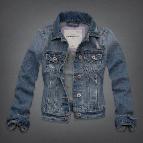 vintage denim jacket - destroyed medium wash