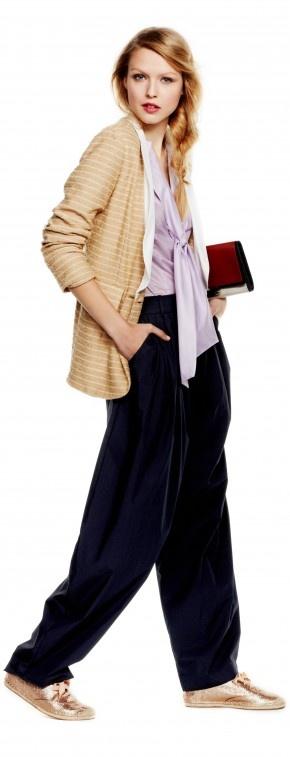 Wren Blazer, Vivienne Westwood shirt, kenzo pants, coach flats and DFV clutch
