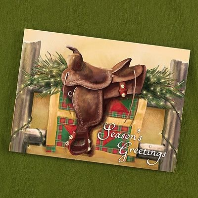 Holiday Cards - Jingle Bell Saddle Southwestern Holiday Card (Card Link - http://occasionsinprint.carlsoncraft.com/Holiday/Holiday-Cards/YM-YM18271FC-Jingle-Bell-Saddle-Southwestern-Holiday-Card.pro)