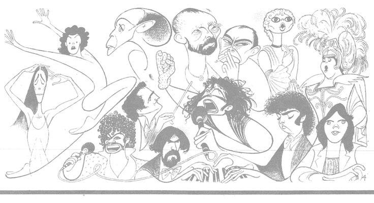 Al Hirschfeld ~ 1984, the Year's Best, Part 2: Pina Bausch, Patrick Dupond, Martha Graham, Vincent van Gogh, Max Beckmann, Mirella Freni, Marilyn Horne, Ellen Taaffe, Daniel Barenboim, Michael Jackson, Radu Lupu, Charles Dutoit, and Prince
