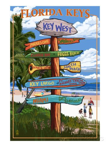 Key West, Florida - Destination Signs Posters at AllPosters.com