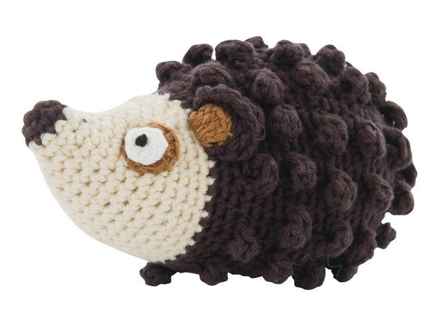 Crochet Hedgehog Rattle - This is SO adorable. I may have to figure out for @Jessica Davis new arrivals.