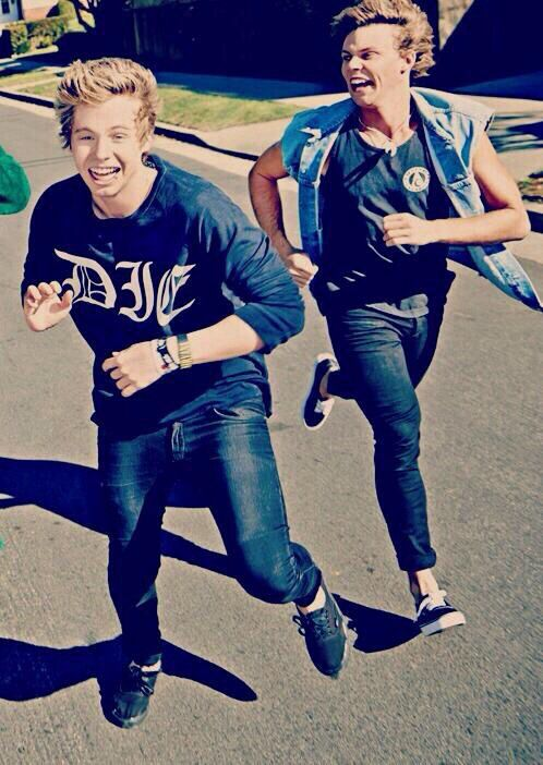 Just imagine them and mikey and cal running from your dad and out of your house because they weren't supposed to be there in the first place and when your dad came home he went to say hi to you in your room and he sees them climbing out of your window anD WHAT HAVE I DONE