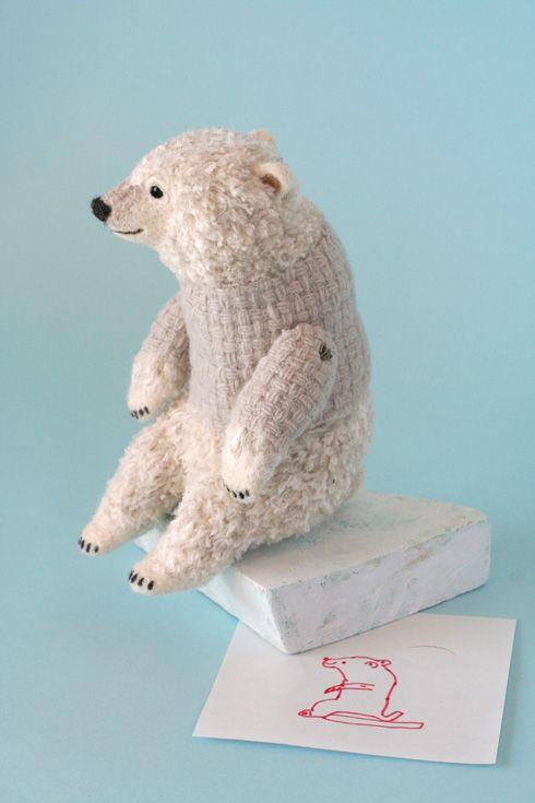 Yoo Moo - Japanese felting artist, polar bear
