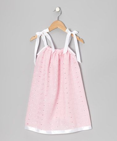 Take a look at this Pink Eyelet Swing Dress - Infant, Toddler & Girls by Cozy Bug on #zulily today!