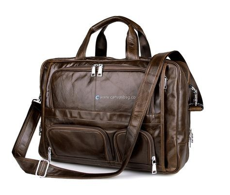 Business Leather Computer Bag Leather Messenger Bag with Handle
