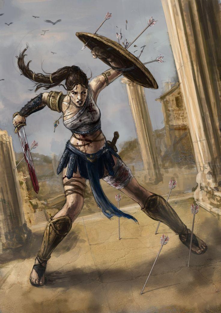 Greek Woman Warrior Hell House   Wish Wing...
