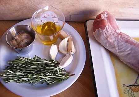 Solomillo de cerdo con mostaza, miel y Romero