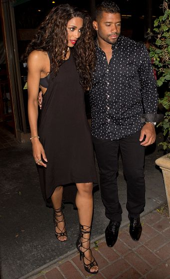 Ciara and Russell Wilson leave a post-BET Awards dinner date at Madeo.