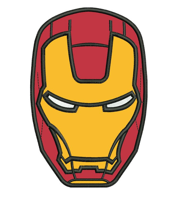 Ironman Head Applique Embroidery Design. $8.00, via Etsy.