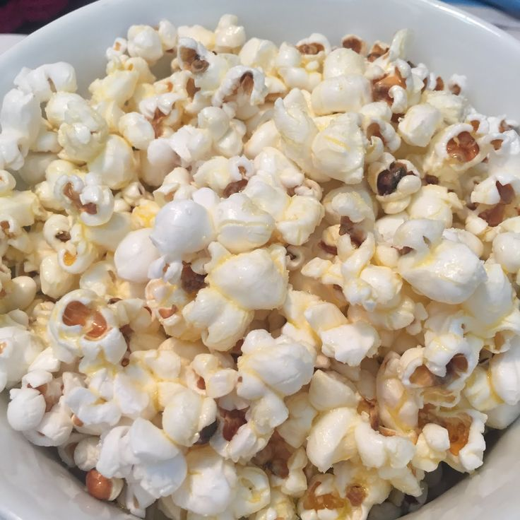 3 tablespoons oil (canola, vegetable, coconut, olive or popcorn butter)  1/3 cup popcorn kernels   salt, seasonings, toppings...   Choose ...