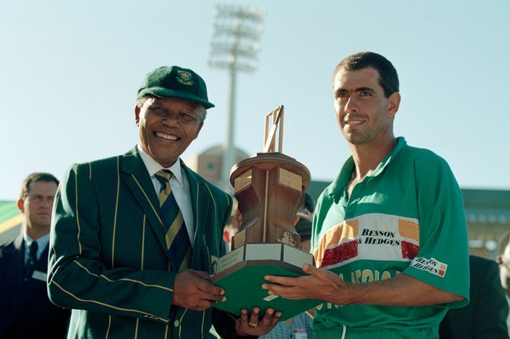 Madiba with Hansie Cronje - Former captain of SA cricket team. may they both Rest in peace.