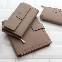 Déclaration #wallet #pouch #taupe #leather #Delsey