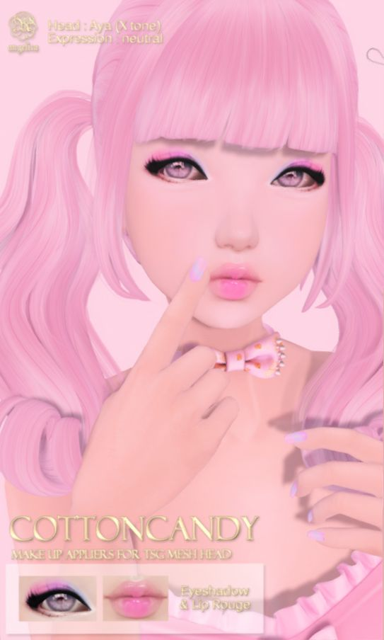"(*ANGELICA) ""COTTONCANDY"" PACK (.tsg Mesh Head Applier) $150L  Visit Angelica @ .tsg. Mall http://maps.secondlife.com/secondlife/The%20Emporium/165/184/490"