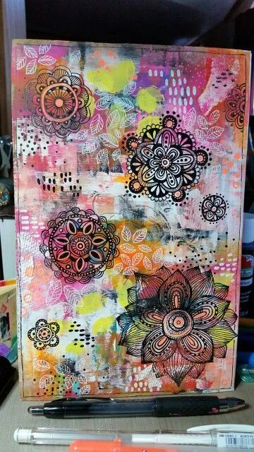 Diane 's Mixed Media Art - Journal Cover...