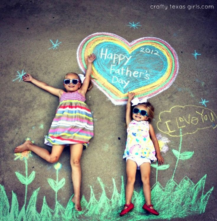 Happy Father's Day Chalk Art Photography