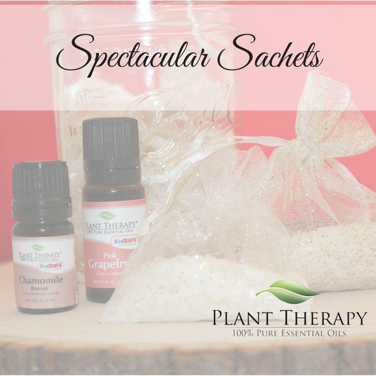 DIY Sachets using essential oils. Super easy, and the essential oils combination in these sachets just SPARKLES!
