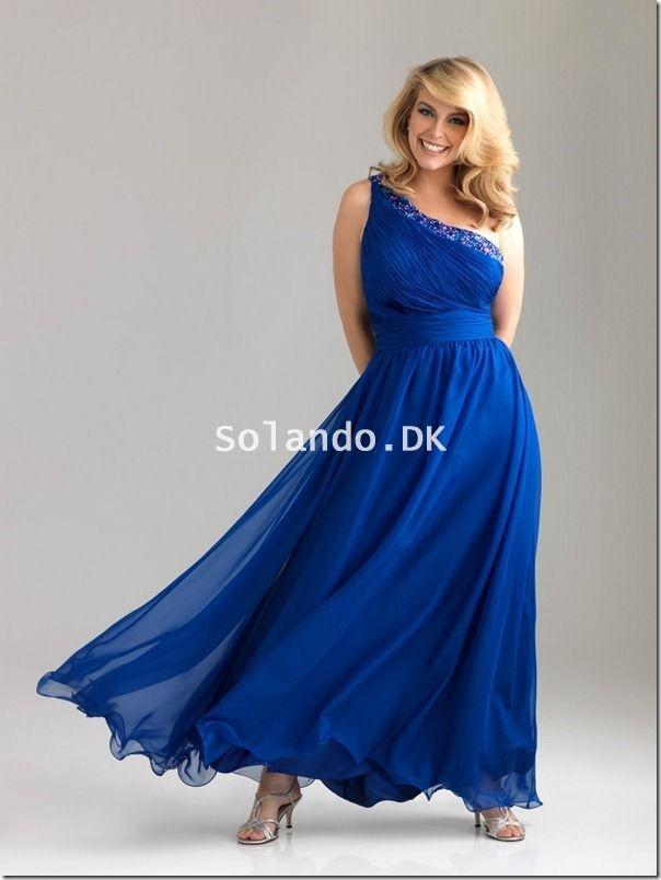 Royal Blå Store Størrelser Kjoler