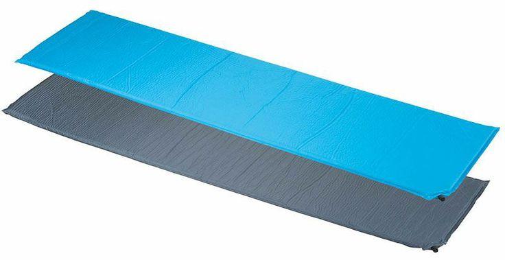 Zelfopblazende campingmat (blauw)