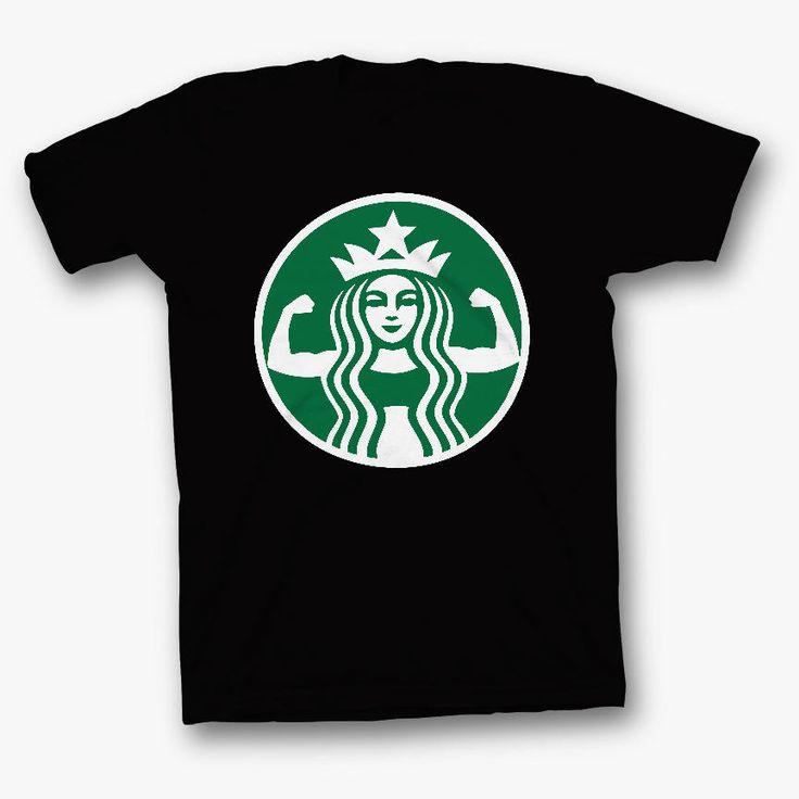 starbucks coffee parody funny tee shirt tshirt t-shirt starbuff muscle gym  #Unbranded #BasicTee