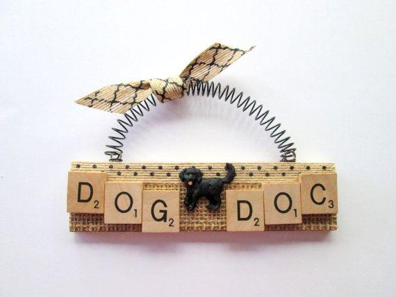Dog Doctor Veterinarian Scrabble Tile by ScrabbleTileOrnament, $8.00