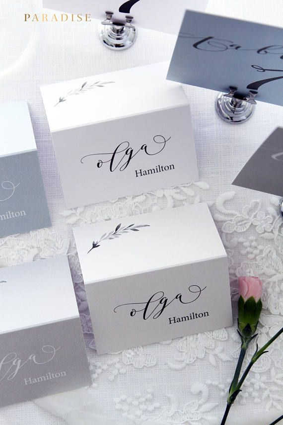 Jane Place Cards, Printable Place Cards or Printed Place Cards, Calligraphy Place card, Tented Cards, Name Tags, Beach or Elegant Wedding