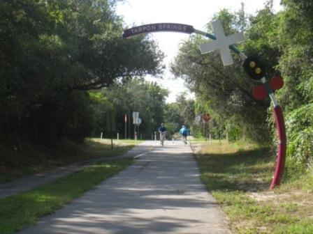 Pinellas Trail from Dunedin to Tarpon Springs, FL--The first greenway (rails-to-trails) I ever rode.  The beginning of the addiction.