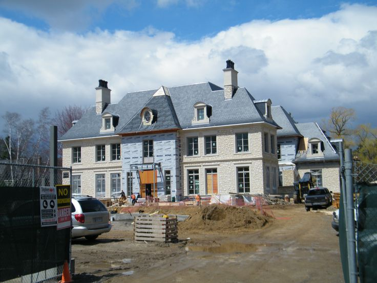 """Another custom home in Toronto, Ontario area that will have a 3/8"""" North Country Unfading Black slate roof."""