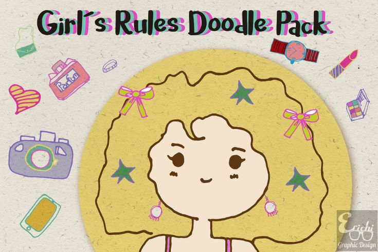 Girls Rules Doodle Pack $5.-