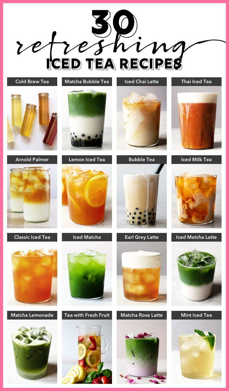 Kick back and relax this summer with these refreshing iced teas. 30 delicious ic…