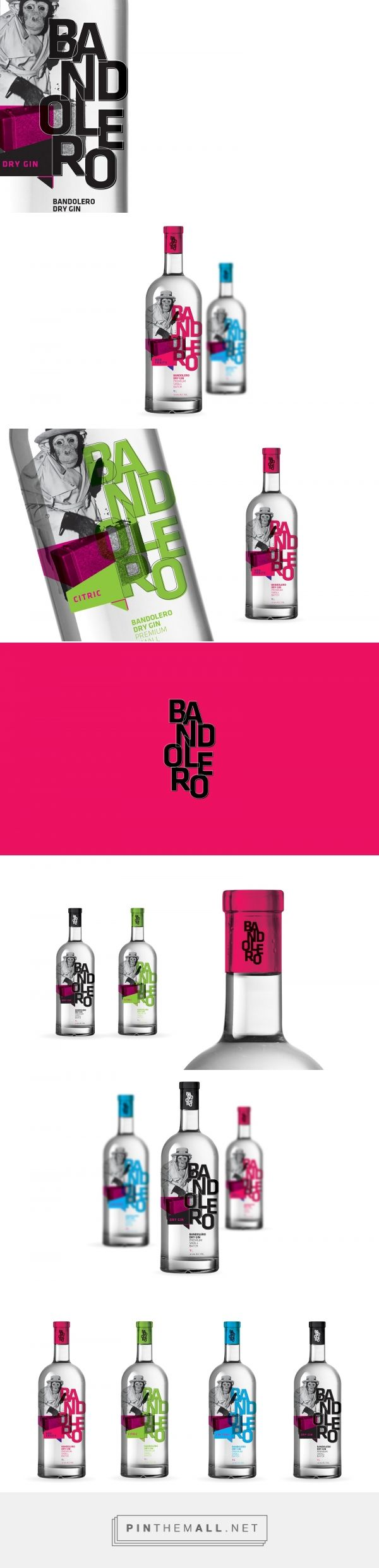 Bandolero Dry Gin (Concept) - Packaging of the World - Creative Package Design Gallery - http://www.packagingoftheworld.com/2017/09/bandolero-dry-gin-concept.html