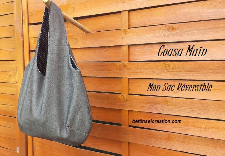 Sac réversible Couture Facile Patron Gratuit version imprimable pdf -  2 sac en 1