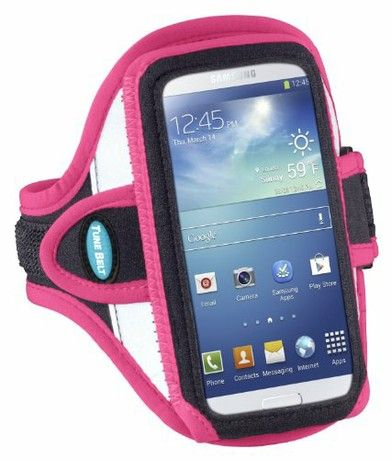 """Armband for iPhone 6 (4.7""""), Galaxy S4, Galaxy S3 and more - Reflective Pink"""