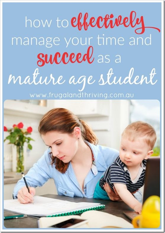 find time to study as a mature age student